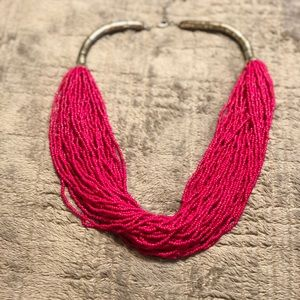 Pink multi strand beaded necklace 💥5 for $25💥